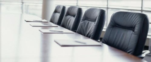 Picture of a boardroom table